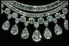 Close-up photograph of the Hazen diamond necklace (NMNH G8045)