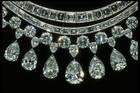 Close-up photograph of the Hazen diamond necklace (NMNH G8045)