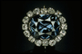 Photograph of the Hope diamond pendant (NMNH G3551)
