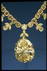 Close-up photograph of the Victoria-Transvaal diamond necklace (NMNH G7101)