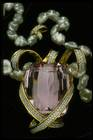 Close-up photograph of the Picasso kunzite and pearl necklace (NMNH G9956)