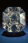 Portuguese Diamond. Octagonal step-cut colorless diamond weighing 127.01 ct. Lot described as