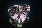 Heart-shaped medium-to-light purplish-pink spodumene (var. kunzite) weighing 880ct