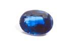 Oval-cut dark blue kyanite weighing 5.87 ct.