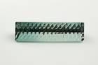 Fancy rectangle-cut green blue elbaite weighing 12.44 ct.