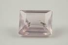 Rectangular step-cut pink quartz weighing 0.75 ct.