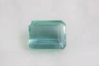 Rectangular emerald-cut green blue amblygonite weighing 29.37 ct.