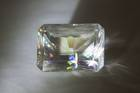 Rectangular emerald-cut colorless calcite weighing 293.27 ct.