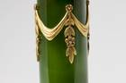 Carved dark green nephrite jade in a perfume bottle. Lot described as