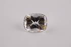 Rectangular cushion-cut colorless jeremejevite weighing 12.78 ct.