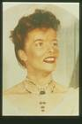 Katherine Hepburn wearing the necklace and photographed for Winston's Court of Jewels traveling exhibit