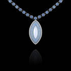 Moonstone and diamond necklace.