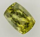 Most green beryl is found in Brazil, but this gem is the first green beryl from India. Its yellowish-green color, large size, and locality make it an important acquisition for the National Gem Collection.