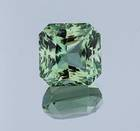 This fancy square cut gem Is the first green beryl from Madagascar and an important addition to the National Gem Collection.