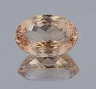 This pinky-peach beryl, known as morganite, is a modified oval cut and the first morganite from Afghanistan for the National Gem Collection.