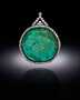 Mogul Emerald Necklace. A necklace featuring carved beryl. Described as