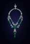 Maharaja of Indore Necklace. An emerald necklace. Described as