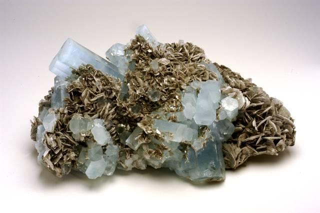Beryl, Aquamarine, Muscovite
