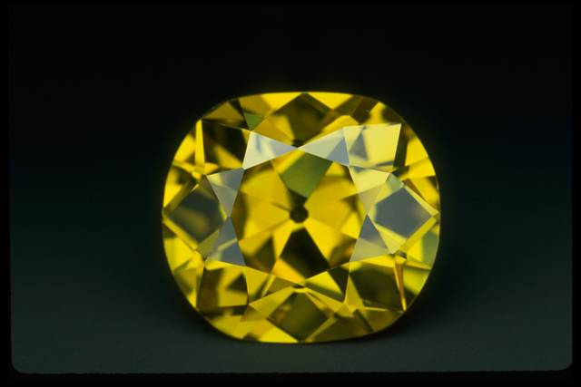 Photograph of the Shepard yellow diamond (NMNH G3406)