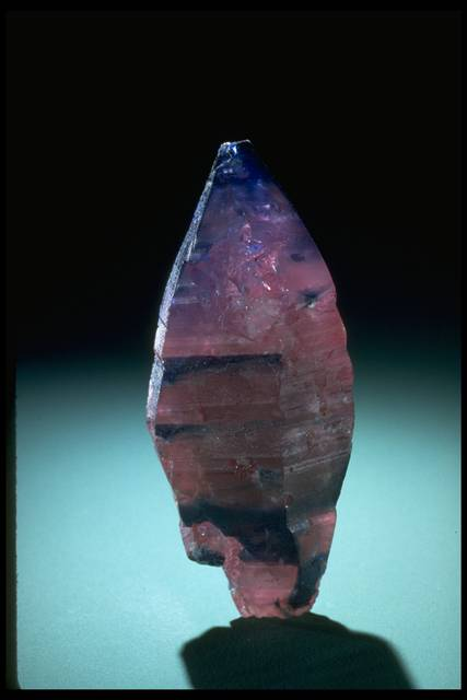Photograph of an uncut sapphire crystal (171220) from the National Mineral Collection