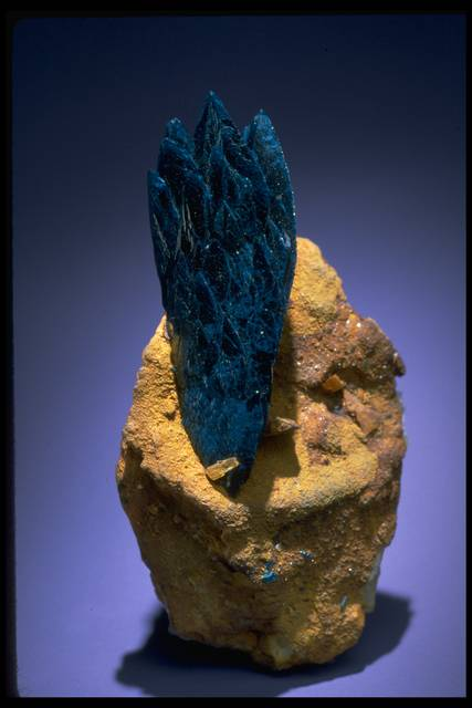 Photograph of veszelyite (148368) from the National Mineral Collection