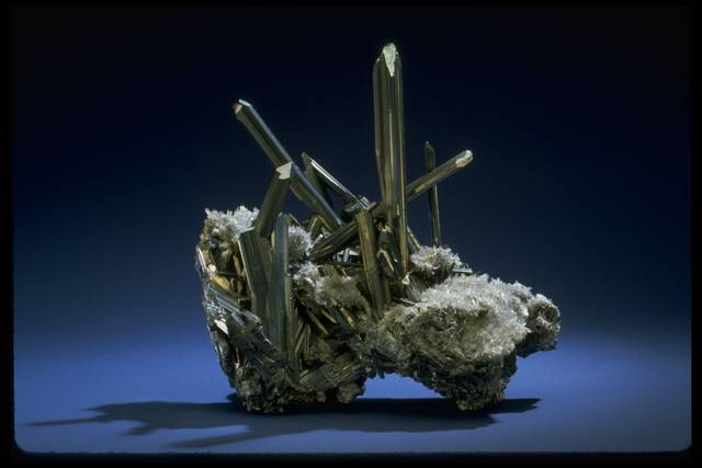 Photograph of stibnite (NMNH R77-07) from the National Mineral Collection