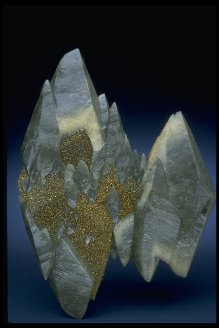 Photograph of calcite with pyrite (145122) from the National Mineral Collection