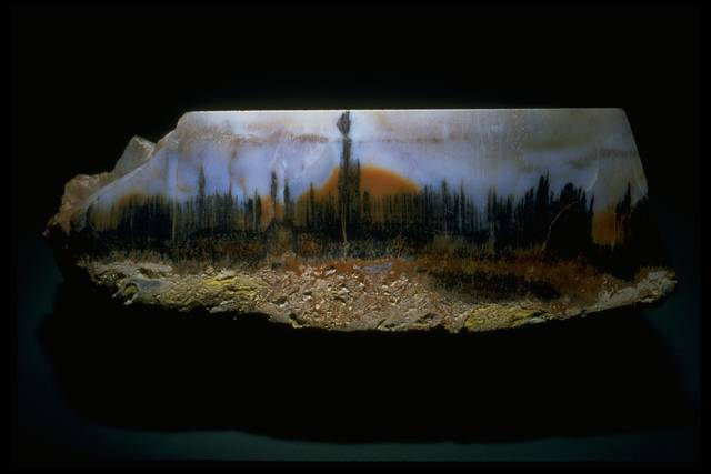 Quartz var landscape agate smithsonian institution for Landscaping rocks quartz