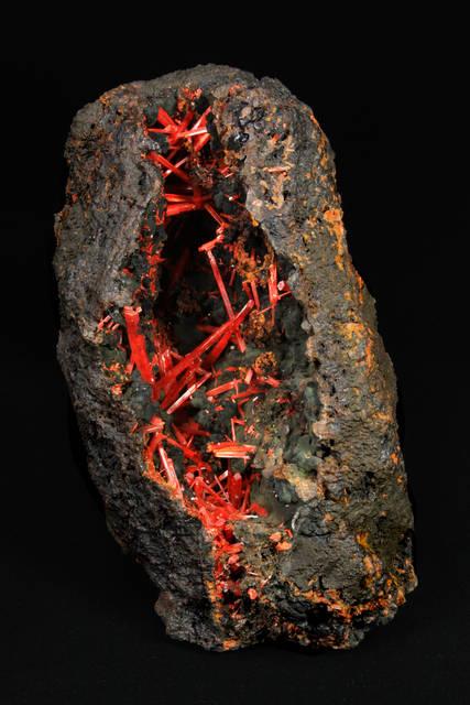 Crocoite with coronadite from Tasmania, Australia