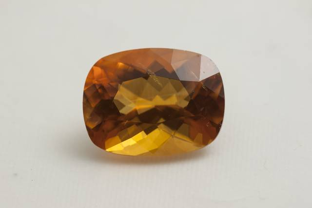 Orange calcite gemstone