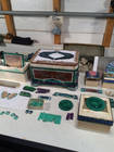 Intarsia box in progress in Nicolai Medvedev's workshop. Photo by Christine Webb.