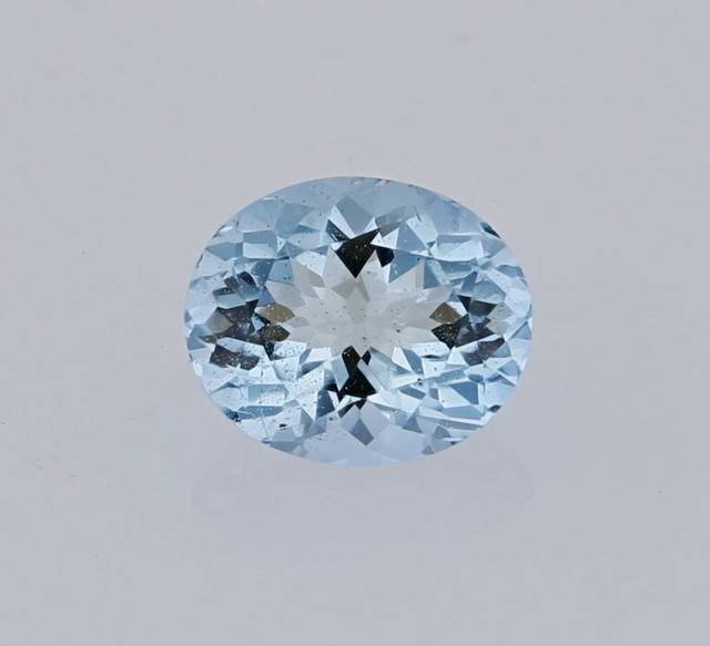 This rare gem is a transparent light blue color and is the first afghanite in the National Gem Collection.