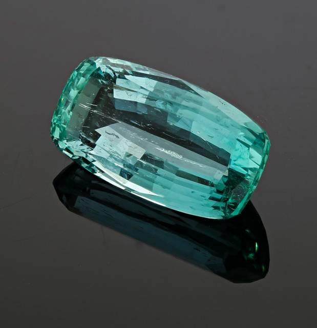 This bluish-green fancy cut gem is the first beryl from Nigeria for the National Gem Collection.