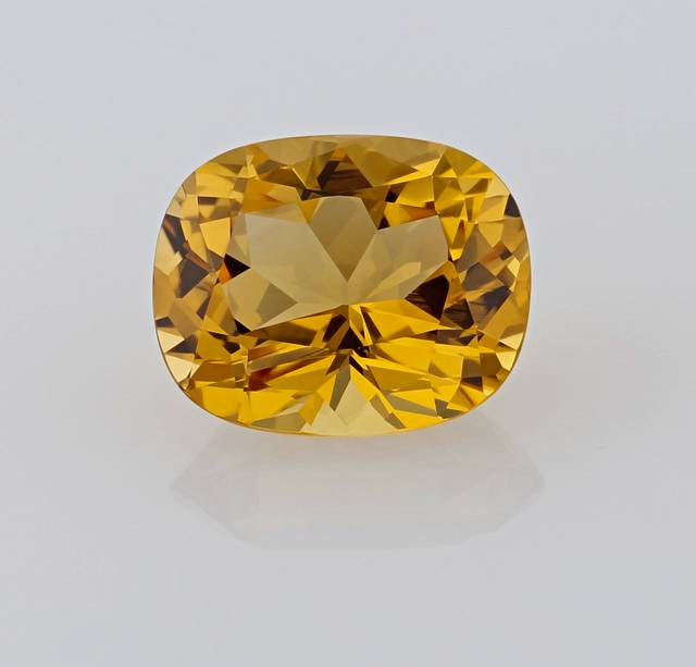 This Brazilian topaz is unique for its intense yellow color and is a wonderful upgrade and addition to the National Gem Collection.