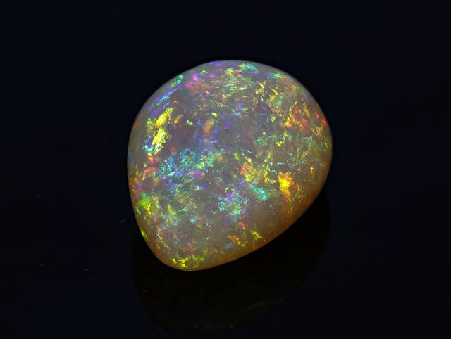 Ethiopian opals are known for their translucent body color and strong play-of-color.