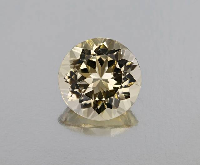 This 36.64ct gem was cut from the same crystal as the largest barite in the National Gem Collection.