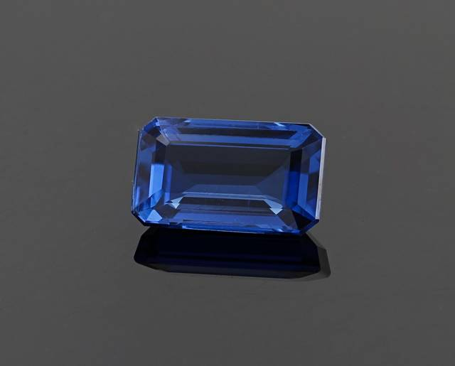 This 7.43 carat gem is an intense deep blue color and the largest kyanite from Nepal in the National Gem Collection.