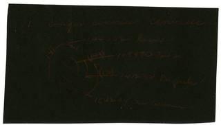 To NMNH Extant Collection (Conger cinereus cinereus RAD105807 thru RAD105810 Envelope)