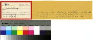 To NMNH Extant Collection (Heterodontus RAD109957 thru RAD109959 Envelope)